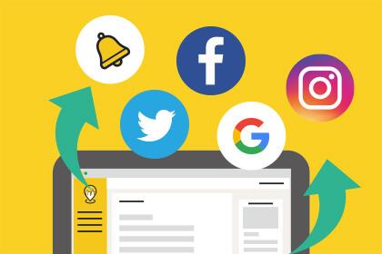 5つ(HPのお知らせ・Googleマイビジネス・フェイスブック・ツイッター・インスタグラム)の更新を1つの管理画面で行うことができる